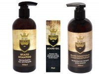 BY MY BEARD UK SZAMPON DO BRODY 300ML + ODŻYWKA 300ML + OLEJEK 30ML