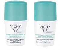Vichy Antyperspirant 48h roll-on zielony 2x50ml